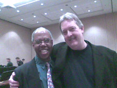 Dr. David Eyler and Kenne Thomas at MN Music Educator's Convention, MPLS., MN